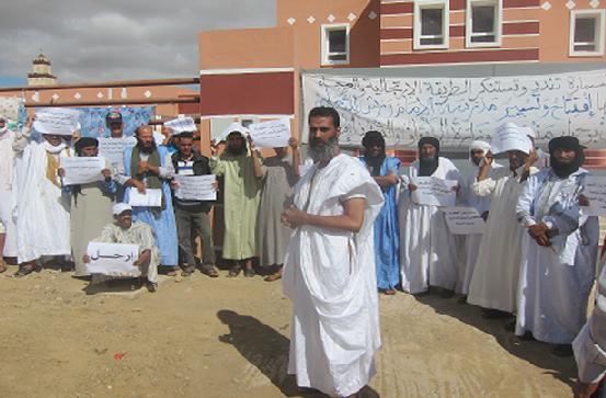 يطالبون مندوب وزارة الأوقاف والشؤون الإسلامية بإقليم السمارة بالرحيل