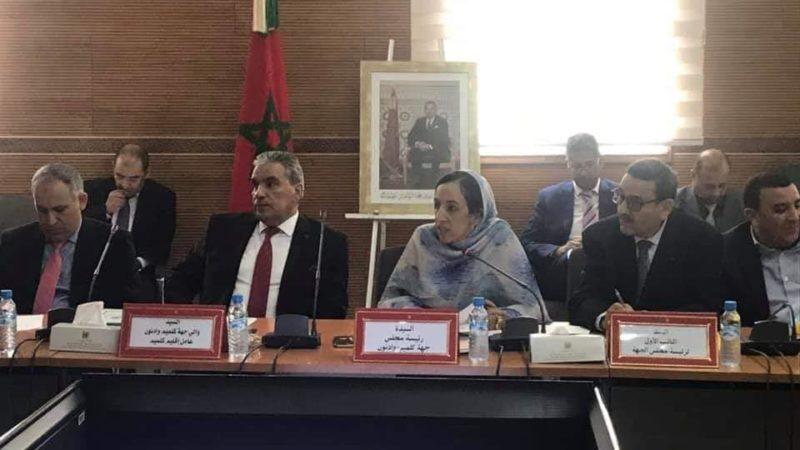 مجلس جهة كلميم يصادق على عدة مشاريع.