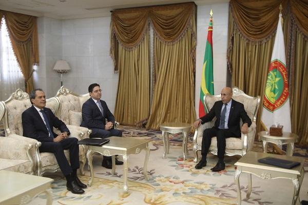 الرئيس الموريتاني يستقبل وزير خارجية المغرب