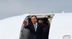 الأمين العام للأمم المتحدة بان كي مون يحل بموريتانيا