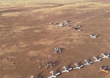 """موريتانيا. سرب من الطائرات السياحية يحط بمدينة """"الرشيد"""" من بينهم مغاربة."""