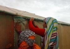 إنقلاب سيارة تهرب التمر من مخيمات اللاجئين الصحراويين.