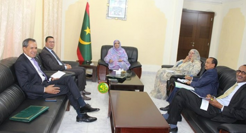 جلسة عمل موريتانية مغربية حول تجربة المغرب في التكوين المهني.