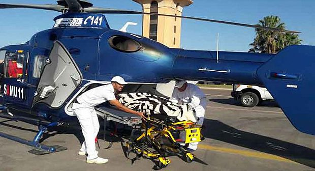 تم تعويض المروحية الطبية بعد غياب دام عدة أيام