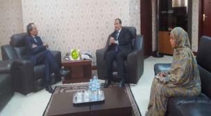 وزير خارجية موريتانيا يستقبل سفير المغرب و الجزائر.