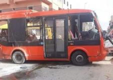 ثمانية جرحى خلال تصادم حافلة للنقل ااحضري و المدرسي.