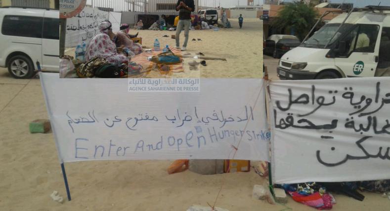 إضراب عن الطعام بالكركرات،و مطالب بالكشف عن المستفيدين من طرف السلطة.