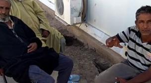 اعتصام صحراويين بمقر المينورسو بأمجيك، ولد البوهالي ينكل بالمنقبين.