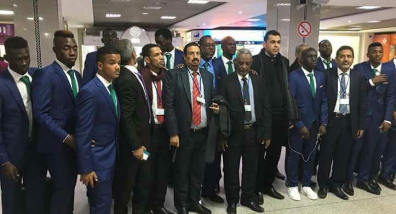 المنتخب الموريتاني يستقبل من طرف طاقم لسافرة بلاده بالدار البيضاء.