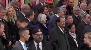 جلالة الملك وولي العهد في الصفوف الأولى في احتفالات مائوية هدنة الحرب العالمية الأولى.