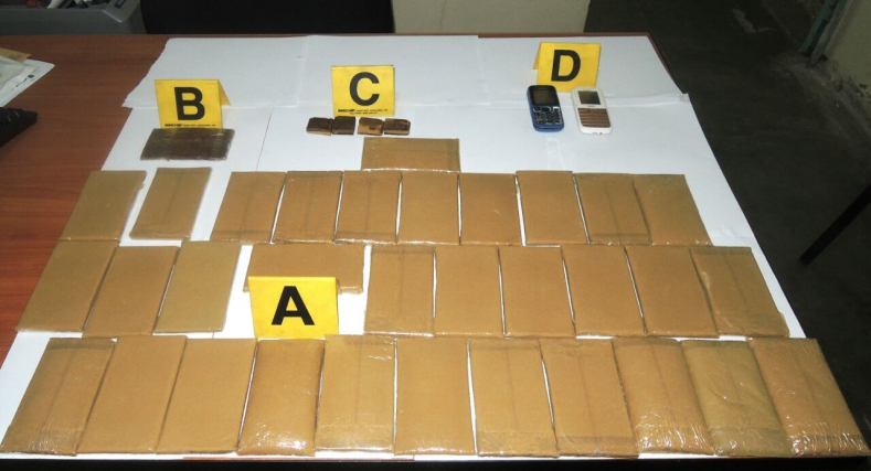 أمن كلميم يحجز حوالي 3 كيلو و نصف من مخدر الشيرا.