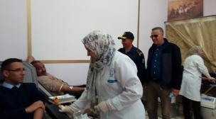 معهد التكنولوجيا للصيد البحري بالعيون ينظم حملة تبرع بالدم.