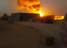 النيران تحاصر وفود أجنبية بمخيمات تندوف.