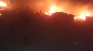 """حريق بالداخلة يخلف قتيل و تدمير حوالي 70 """"براكة""""."""