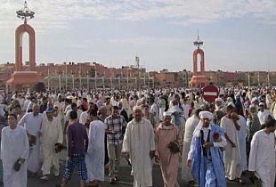صلاة العيد من ساحة المشور السعيد
