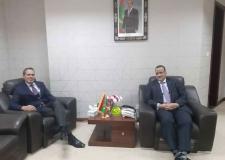 وزير الشؤون الخارجية  الموريتاني يستقبل السفير المغربي.