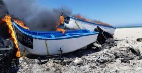 حرق زوارق لطمس الجريمة،والسلطات مسؤولية عن ما يحدث من تهريب بلاساركا.