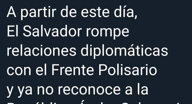 جمهورية السلفادور تسحب اعترافها بالبوليساريو .