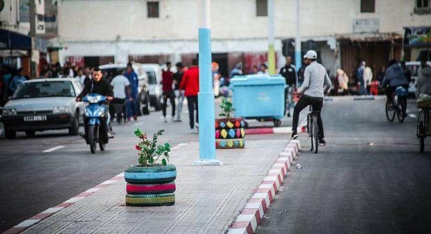 جمعية تزين شارع الحسن الثاني بالمرسى