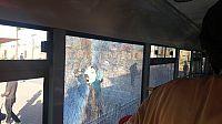 رشق حافلة للنقل العمومي من طرف مجهولين.