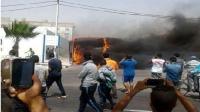 النيران كانت أسرع من الوقاية المدنية فاتت على حافلة للركاب.