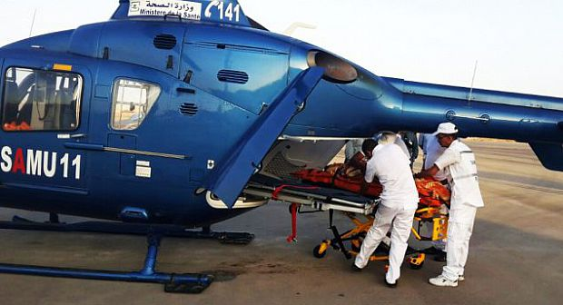 المروحية الطبية تنقذ أما و جنينها بالسمارة