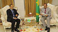 رئيس الجمهورية الموريتانية يستقبل مبعوثا خاصا  للأمين العام لجبة البوليساريو