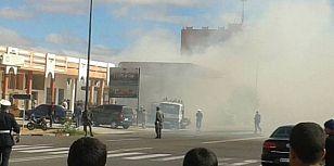 حريق بمحطة للبنزين بكلميم.