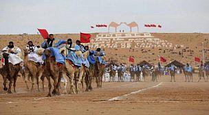 هجانة موسم طانطان يحتجون أمام مقر العمالة