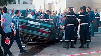 انقلاب سيارة بالمدار الحضري يخلف قتيل.