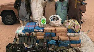 توقيف 5 مهربين بحوزتهم طن من المخدرات في الشمال الموريتاني