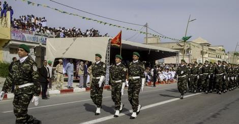تشكيلات عسكرية مغربية لفتت أنظار جمهور موريتانيا يوم عيد الاستقلال.