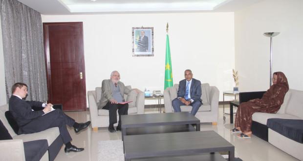 المعبوث ألاممي يستقبل من طرف الوزير الاول الموريتاني.