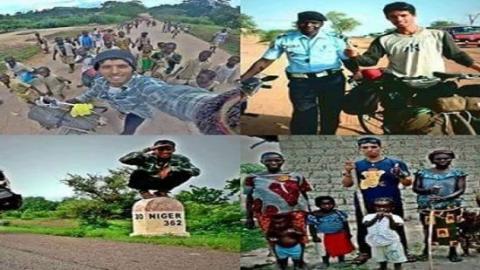 بعد أن مر بموريتانيا النيجر توقف رحالة مغربي