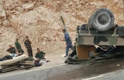 مصرع 3 جنود نتيجة حادثة  سير  بين بالقرب من السمارة.