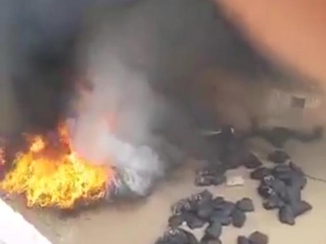 حريق بمستودع تابع الإنعاش الوطني بالعيون تجهل أساببه