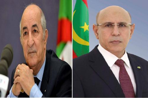 الرئيس الموريتاني يتباحث مع نظيره الجزائري هاتفيا