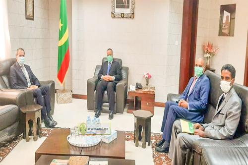 السفير المغربي يستقبل من طرف وزير خارجية موريتانيا