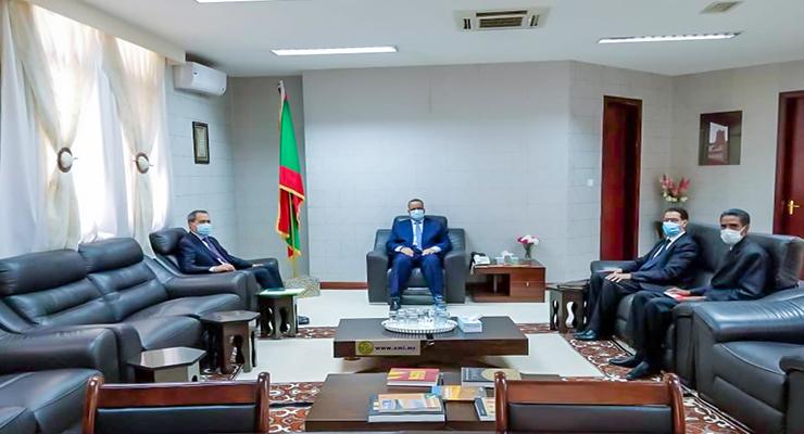 وزير خارجية موريتانيا يستقبل سفير المغرب