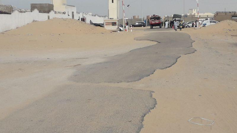 حتى البوابة الموريتانية لم تسلم من سقوط قذائف
