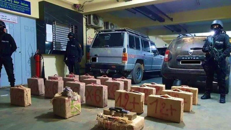 موسم المخدرات ..توقيف ضابط شرطة و 8 أشخاص  ثلاثة منهم من مخيمات تندوف وموريتاني