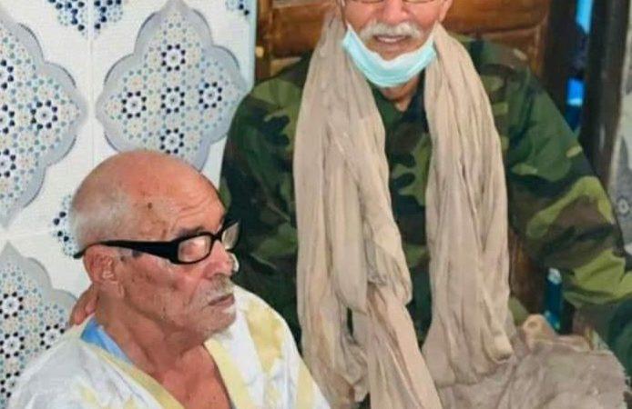 إبراهيم غالي في غرفة شيوخ تندوف